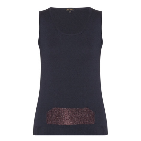 Sensul Sleeveless Knitted Top, ${color}