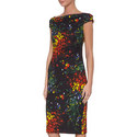 Dosa Patterned Jersey Dress, ${color}