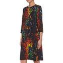 Dinzanos Patterned Dress, ${color}
