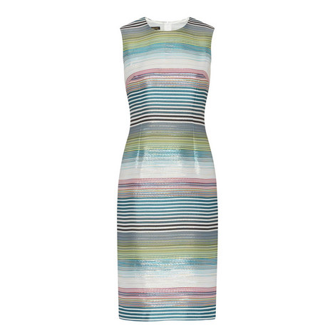 Deide Stripe Lurex Dress, ${color}