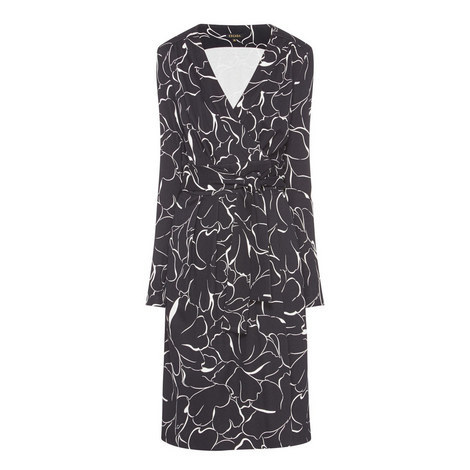 Dvinara Pattern Wrap Dress, ${color}