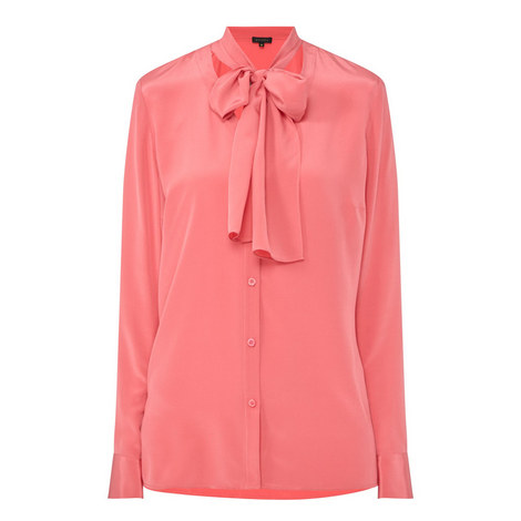 Self-Tie Detail Shirt, ${color}