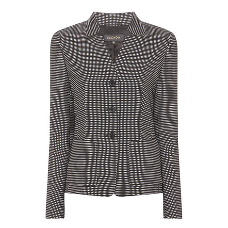 Micro-Square Pattern Jacket , ${color}