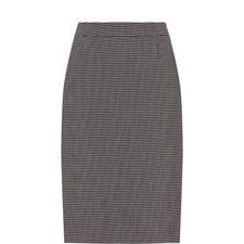 Micro-Square Pattern Skirt