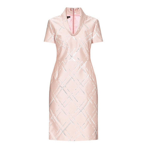 Jacquard Lurex Dress, ${color}