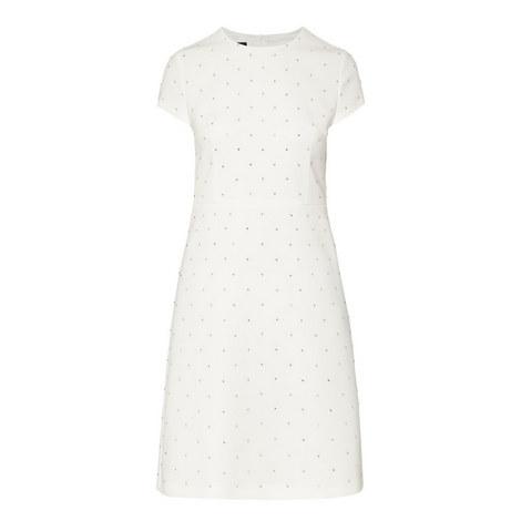 A-Line Jewel Embellished Dress , ${color}