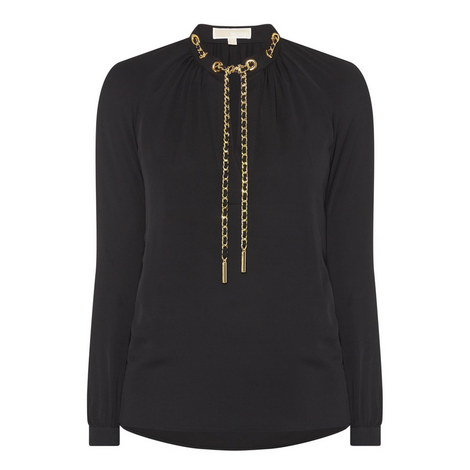 Chain Detail Shirt, ${color}