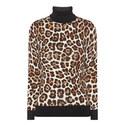 Animal Print Polo Neck Sweater, ${color}