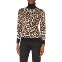 Animal Print Polo Neck Sweater, ${color}