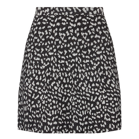 Leopard Lurex Skirt, ${color}