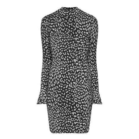 Bell Sleeve Lurex Dress, ${color}