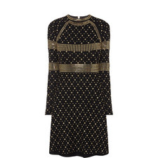 Studded Long Sleeve Dress
