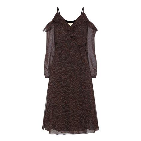 Wrap Print Dress, ${color}