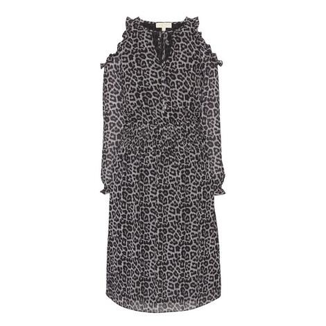 Leopard and Plaid Print Dress, ${color}