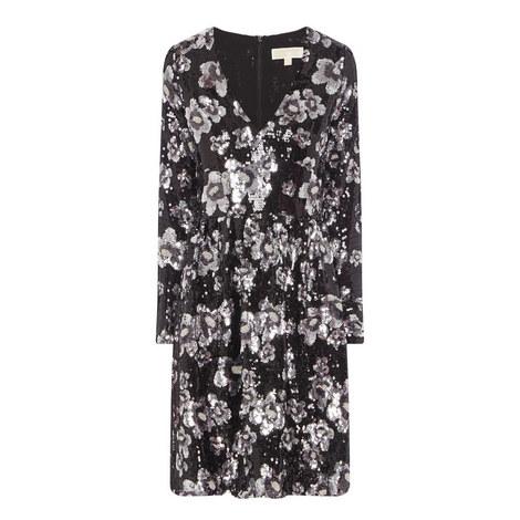 Sequin Floral Dress, ${color}