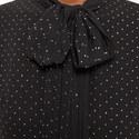 Pleated Polka Dot Dress, ${color}