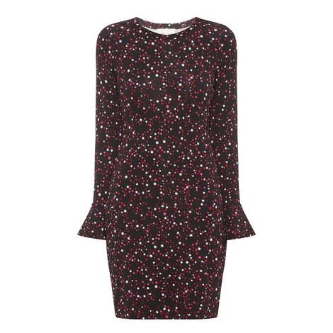 Shooting Star Print Dress, ${color}