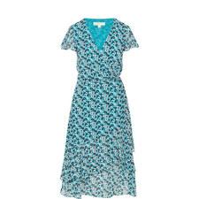 Carnation Print Wrap Dress