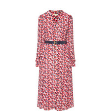 Carnation Georgette Shirt Dress