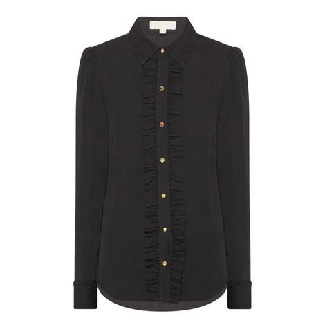 Ruffle Button Shirt, ${color}