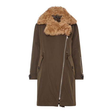 Aucuba Three-Piece Shearling Coat, ${color}