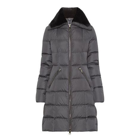 Davida Shearling Collar Coat, ${color}