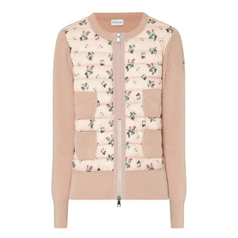 Floral Zip-Up Cardigan, ${color}