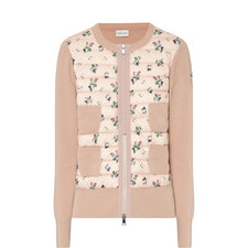 Floral Zip-Up Cardigan