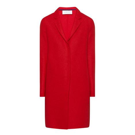 High Neck Virgin Wool Coat, ${color}