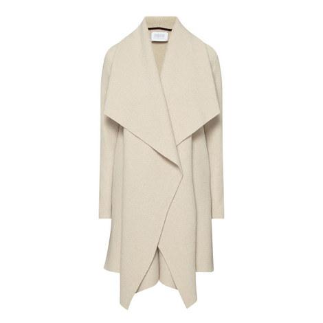 Virgin Wool Shawl Coat, ${color}