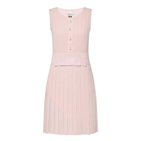 Sleeveless Pleated Dress, ${color}