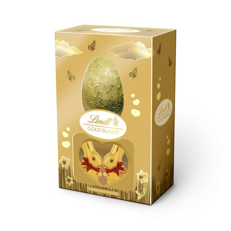 Gold Bunny And Chocolate Easter Egg Giftbox, ${color}