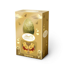 Gold Bunny And Chocolate Easter Egg Giftbox