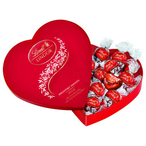 Lindor Milk Chocolate Truffles Heart Giftbox, ${color}