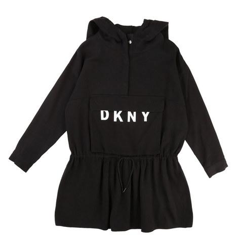 Drawstring Sweatshirt Dress, ${color}