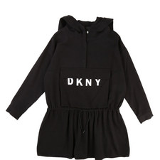 Drawstring Sweatshirt Dress Teens