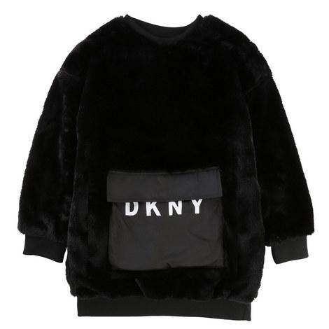 Faux Fur Sweater Dress Kids, ${color}