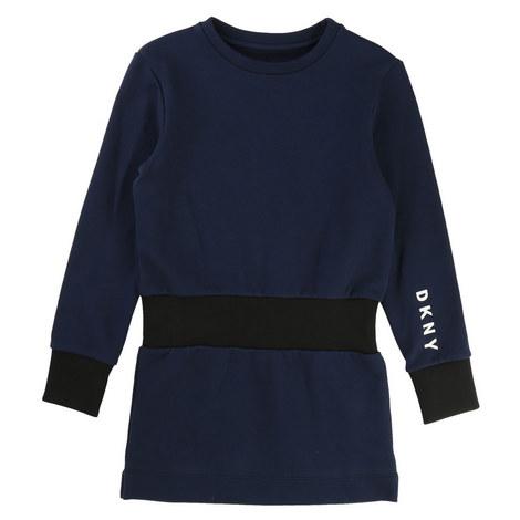 Ribbed Sweatshirt Dress, ${color}