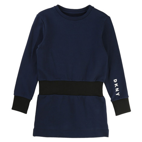 Ribbed Sweatshirt Dress Kids, ${color}