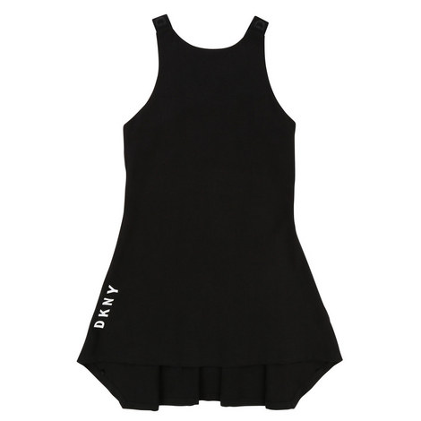 Logo Pinafore Dress Teens, ${color}