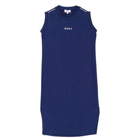 Logo Back T-Shirt Dress Teens, ${color}