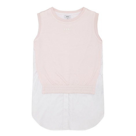 Sleeveless Sweat Layer Dress , ${color}