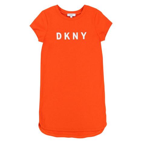 Logo T-Shirt Dress Teens, ${color}