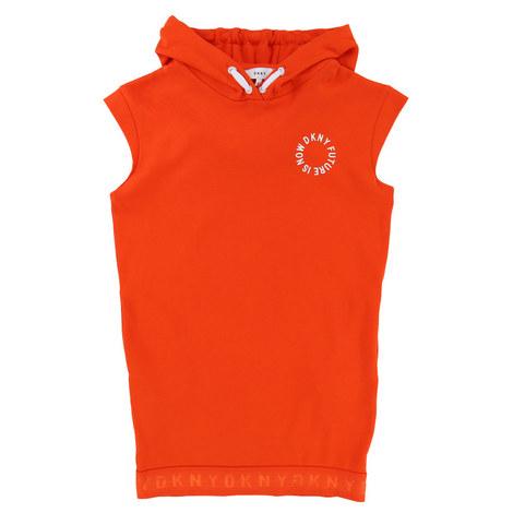 Hooded Sweatshirt Dress Teens, ${color}