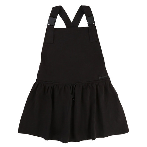 Drawstring Pinafore Dress Teens, ${color}