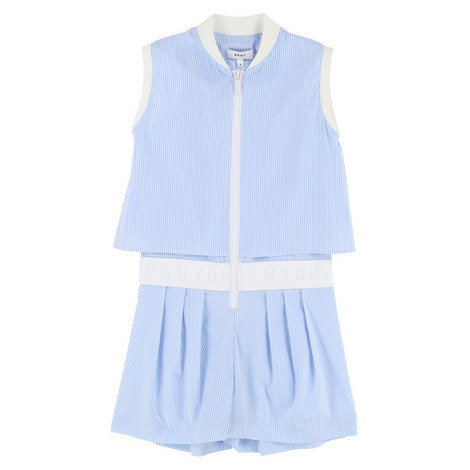 Oxford Stripe Playsuit Teens, ${color}