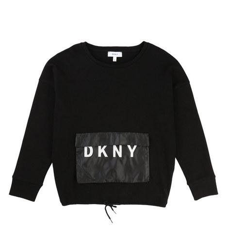 Oversized Pocket Sweatshirt Teens, ${color}