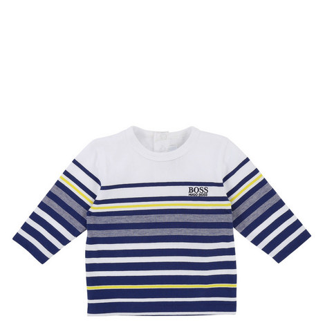 Striped Long Sleeve T-Shirt Baby, ${color}