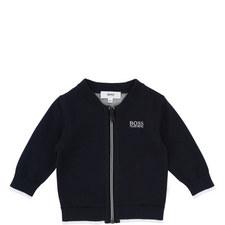 Zipped Knit Cardigan Baby