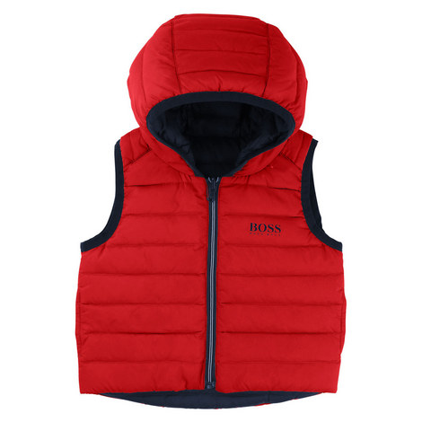 Reversible Down Padded Gilet Toddlers, ${color}